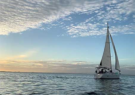 Punta Gorda Sailing Charter Cruise on Peace River in Southwest Florida.